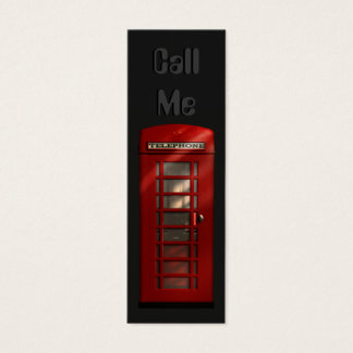 British Red Telephone Box Skinny Profile Cards