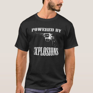 British Revolver Powered By Explosions T-Shirt