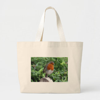 British Robin Large Tote Bag