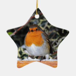 British robin redbreast christmas ornament