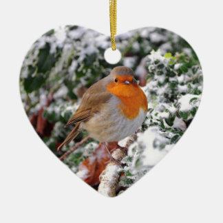British robin redbreast christmas ornament