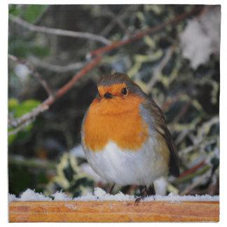 British robin redbreast napkin