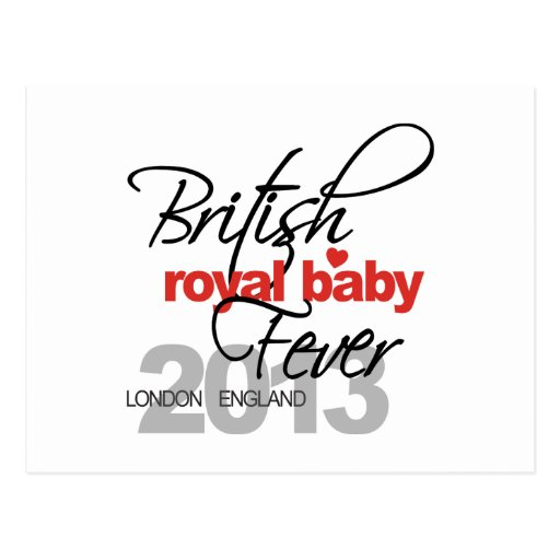 British Royal Baby Fever - Prince George Post Cards