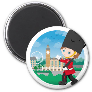 British Royal Guard 6 Cm Round Magnet
