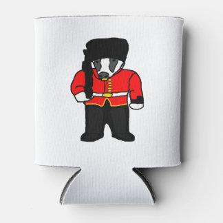 British Royal Guard Badger Cartoon Illustration