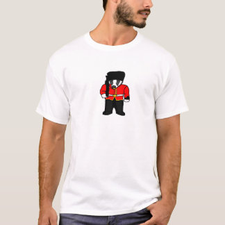British Royal Guard Badger Cartoon Illustration T-Shirt