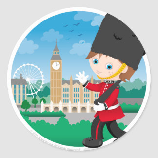British Royal Guard Round Sticker