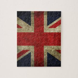 British Royal Union Jack Antique Flag Jigsaw Puzzle