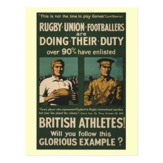 British rugby, football players call for duty postcard