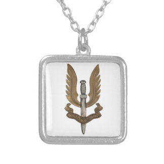 British SAS Silver Plated Necklace