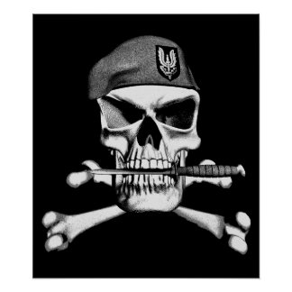 British SAS Skull Posters