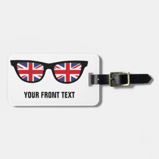 British Shades custom luggage tag