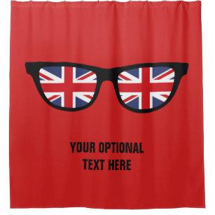 British Shades Custom Shower Curtain