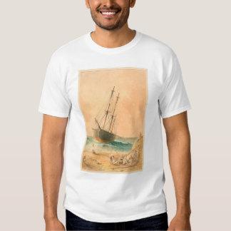 """British ship """"Viscata"""" Beached (0533A) Tees"""
