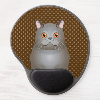 British Shorthair Cat Cartoon Paws Gel Mouse Mat
