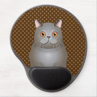 British Shorthair Cat Cartoon Paws Gel Mouse Pad