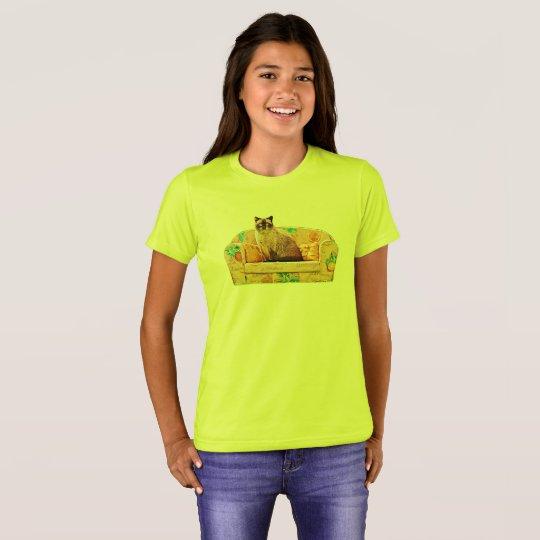 British Shorthair Cat, Funny Cat Art T-Shirt