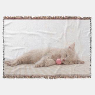 British Shorthair Cat Throw Blanket