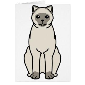 British Shorthair Colourpointed Cat Cartoon Card