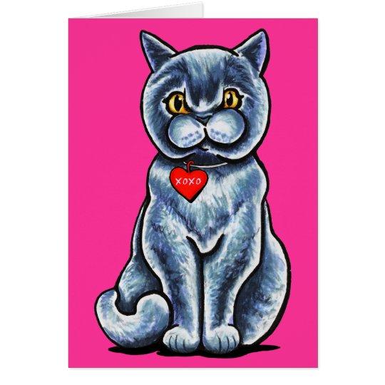 British Shorthair Pretty Purr-fect Valentine Card