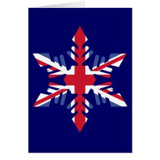 British Snowflake Card
