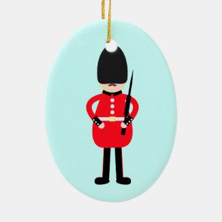 British Soldier Ceramic Oval Decoration