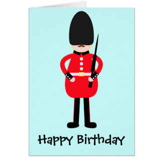 British Soldier Greeting Card