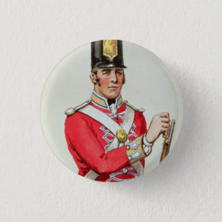 British soldier in Napoleonic times 3 Cm Round Badge