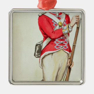 British soldier in Napoleonic times Silver-Colored Square Decoration