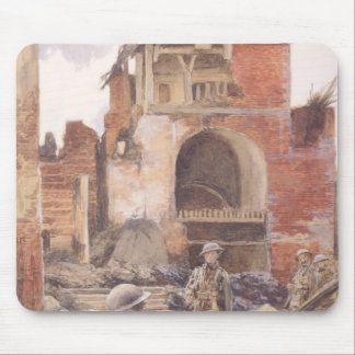 British Soldiers in the Ruins of Peronne, 1917 Mouse Pad