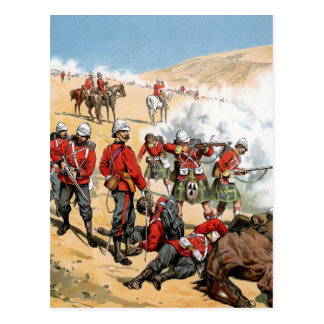 British soldiers of the 19th century postcard