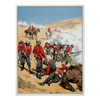 British soldiers of the 19th century print