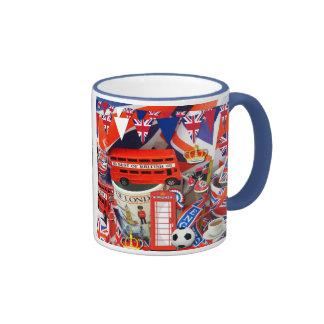 British Souvenirs Ringer Mug