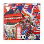 British Souvenirs Small Square Tile