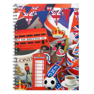 British Souvenirs Spiral Notebook