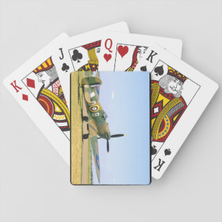 British Spitfire, Rear Quarter View_WWII Planes Playing Cards