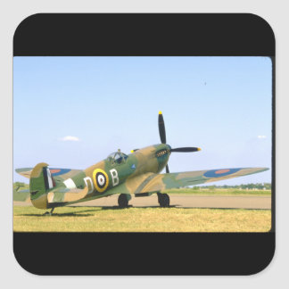 British Spitfire, Rear Quarter View_WWII Planes Square Sticker