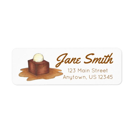 British Sticky Toffee Pudding Foodie Address Label