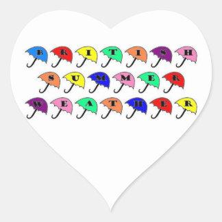 British Summer Heart Sticker