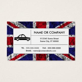 british taxi cab business card