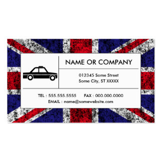 british taxi cab business card template