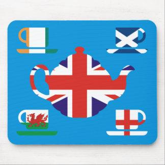 British Tea Great Britain Flags Mouse Mat