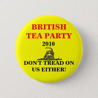 British Tea Party 6 Cm Round Badge