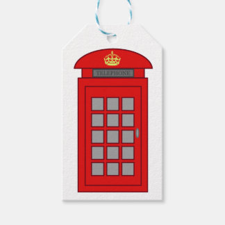 British Telephone Box Gift Tags