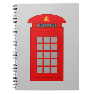 British Telephone Box Spiral Note Books