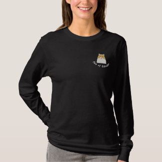 British to longhair fan off Eiderdown Embroidered Long Sleeve T-Shirt