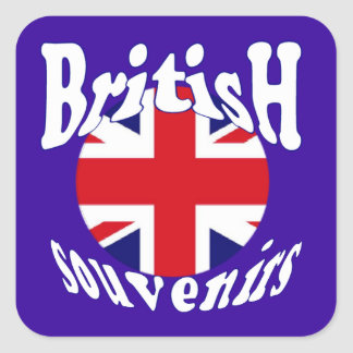 British  Tourism Souvenirs Union Jack Square Sticker