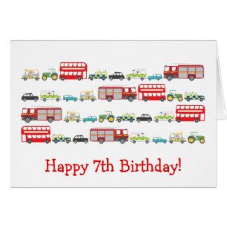 British Traffic Jam 7th Birthday Card