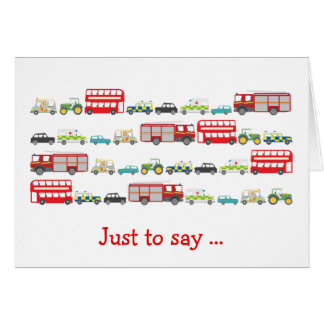 British Traffic Jam Just to Say Card