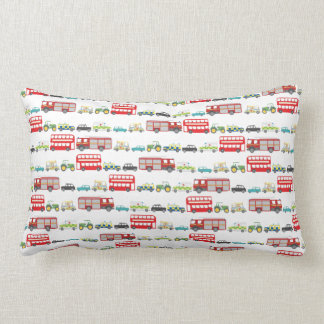 British Traffic Jam Lumbar Pillow